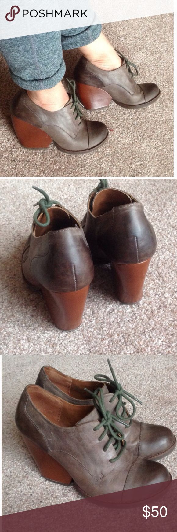 Kors distressed look ankle boots In lightly worn condition. Shows some minor signs of wear only. Please enlarge photos for more details. Made of real leather. Fits a size between 5.5 to 6 (It's my size), but too small for size 6.5.                                     e kork ease Shoes Ankle Boots & Booties