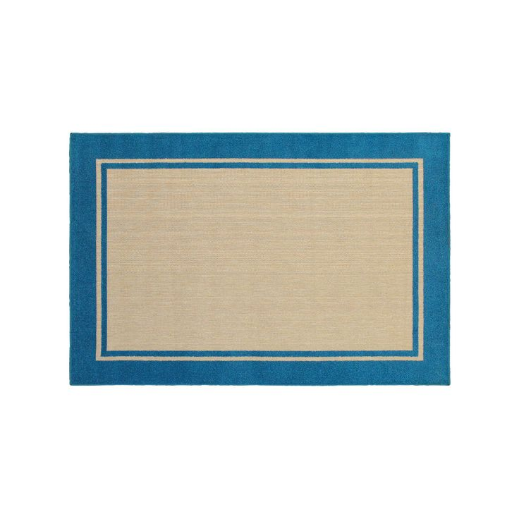 StyleHaven Corisco Simply Borders Rug, Blue