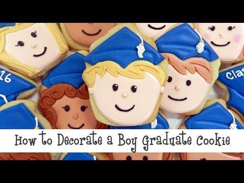 BOY GRADUATE - Flour Box Bakery — How to Decorate a Happy Graduate Cookie