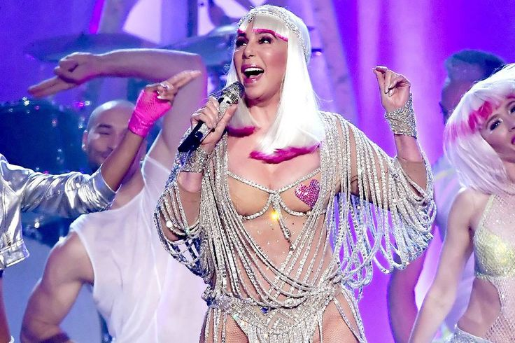 "71-Year-Old Cher Turns Back Time in Pasties, Thongs & More Epic Looks For #BBMAs Performance __________ Divas dominated the Billboard Music Awards in Las Vegas Sunday Night. #CélineDion delivered a moving performance of ""#MyHeartWillGoOn"" in an epic white gown. And Cher accepted her #ICONaward and performed in outfits reminiscent of her epic '80s tour costumes. _________ #Cher, who turned 71 Saturday and received a slew of birthday messages (including one from #KimKardashian on her social…"