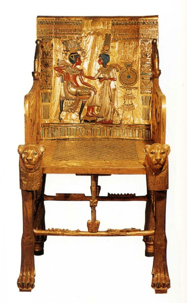 Ancient egyptian table - Throne Of Tutenkhamen Ca Bc From The Tomb Of Tutankhamen In The Valley Of The Kings Thebes Egyptian Museum Cairo