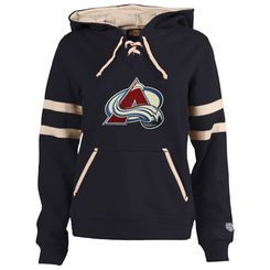 Women's Colorado Avalanche Old Time Hockey Grant Lace-Up Slim Fit Hoodie