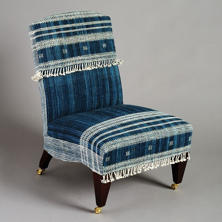 Royal Blue Slipper Chairs | Irving and Morrison