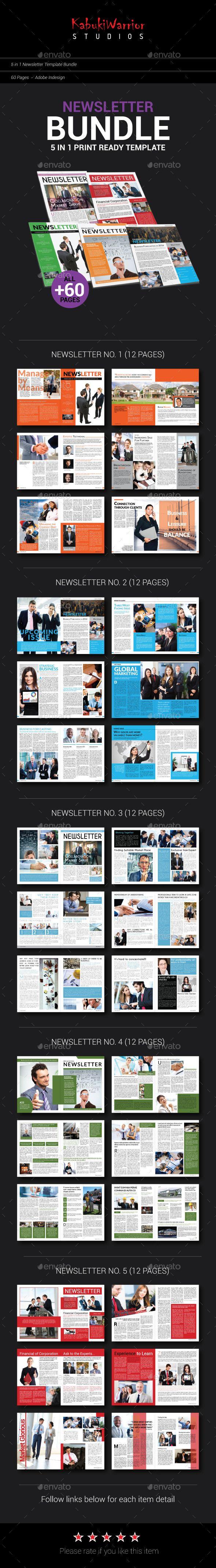 Newsletter Bundle Template #design Download…