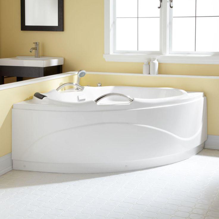 "54"" Santorini Corner Acrylic Tub"