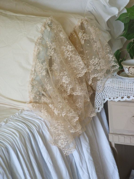 Best 25 shabby chic pillows ideas on pinterest lace for Burlap and lace bedroom