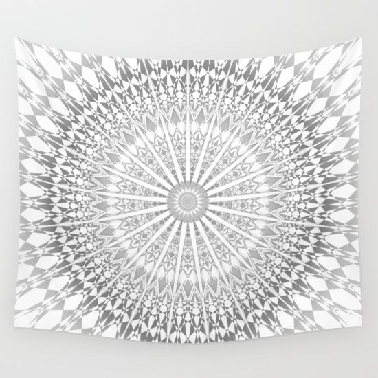 Best mandala wall tapestries on Society6. Mandala - boho - indian - ethnic - kaleidoscope tapestries - wall hangings.