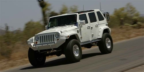 Jeep wrangler four door slant back