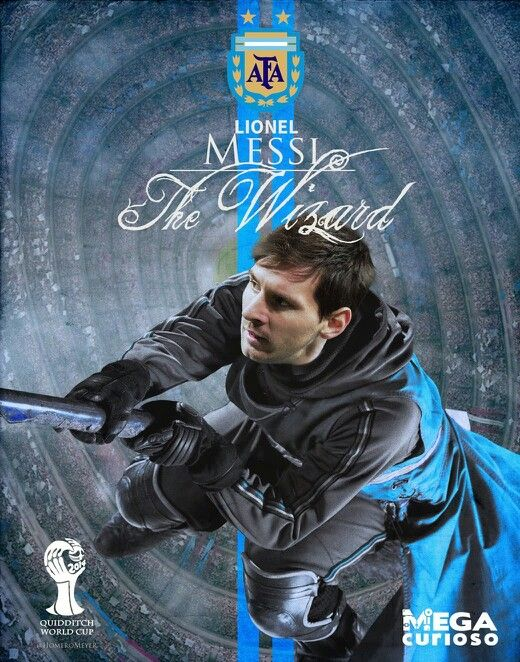 Lionel messi ( Argentina ) football players playing quidditch