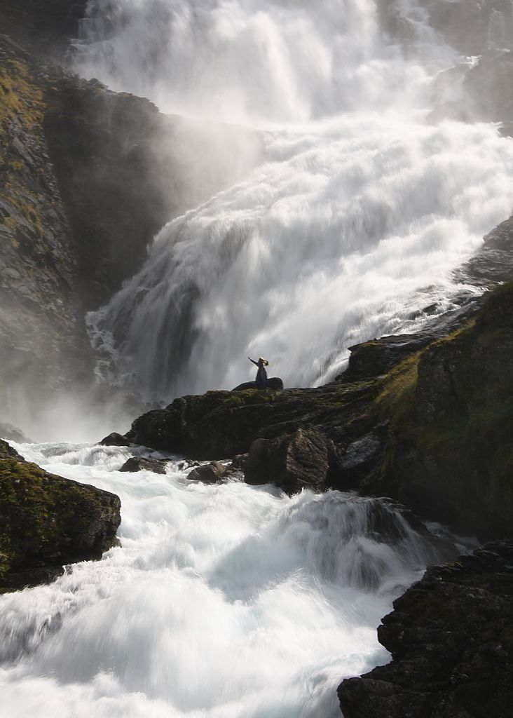Saw it- JW. Waterfall Dancer. Taken at Kjosfossen Waterfall on the train journey from Myrdal to Flåm, Norway. All rights reserved by Anik Messier.