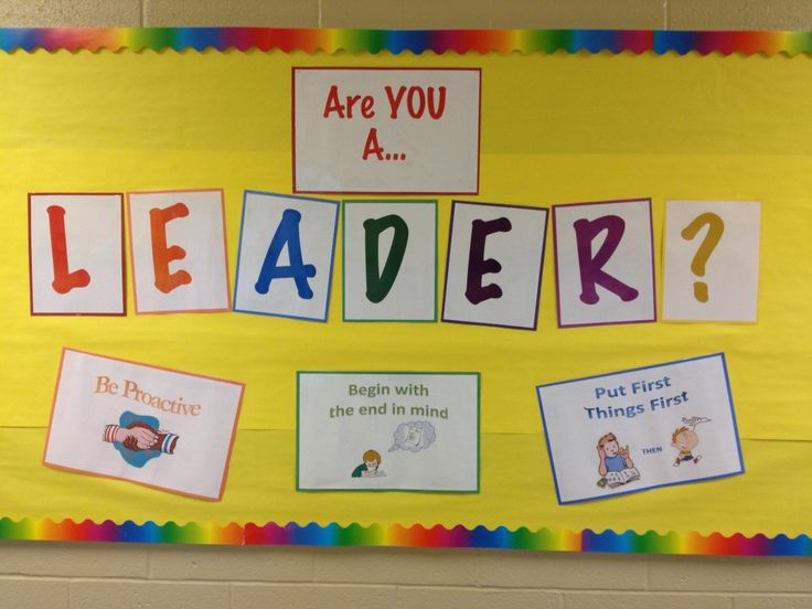Leader In Me Bulletin Boards | Central Manor Elementary School » Leadership is EVERYWHERE at Central ...