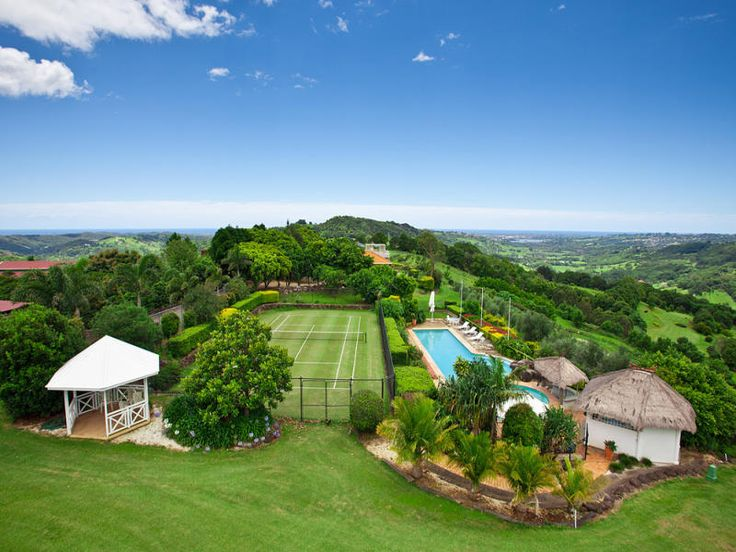 Beautiful retreat, wedding venue and restaurant with stunning ocean and valley views, romantic villas, restaurant, private beauty room, lawn tennis court, 25m resort pool within 73 acres of lush hinterland.  www.summergrove.com.au