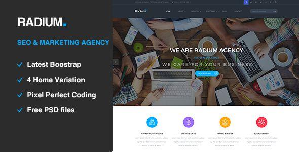 Radium - SEO /Digital Agency HTML5 Template - Portfolio Creative