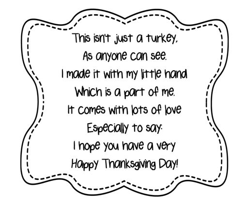 Turkey Handprint Poem Printables | A to Z Teacher Stuff Printable Pages and Worksheets