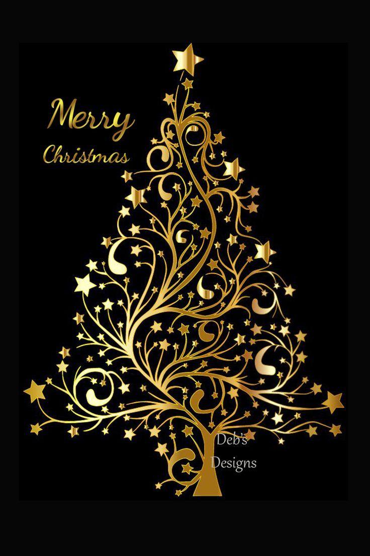 Digital Christmas Card Printable Digital Christmas Card Card