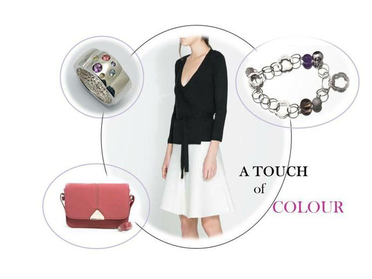 Basta un tocco di colore per rendere personale e unico un outfit semplice ed elegante outfit zara - bag mango - jewels battiquore