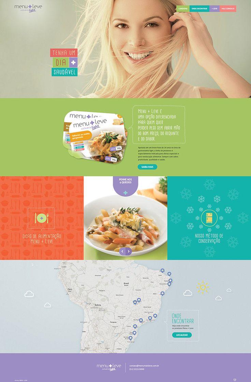 Website Menu + Leve