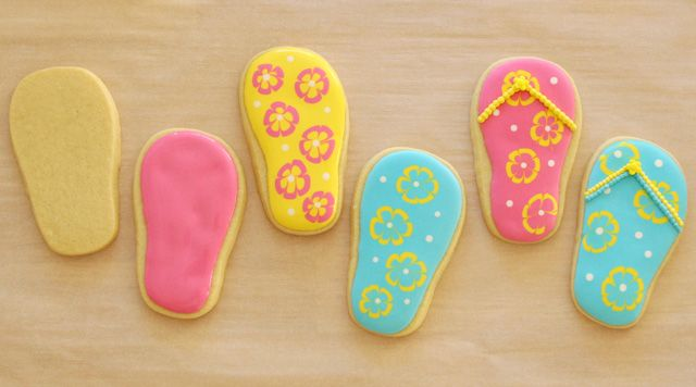 How to make cute flip flop cookies