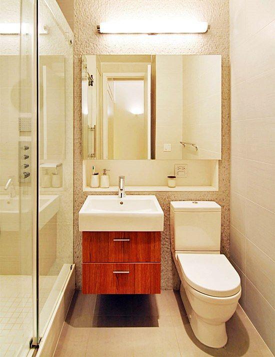25+ melhores ideias sobre Banheiro Bege no Pinterest  Decoração de lavabo, D -> Banheiro Pequeno Creme