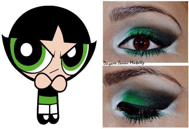 powerpuff girls buttercup makeup