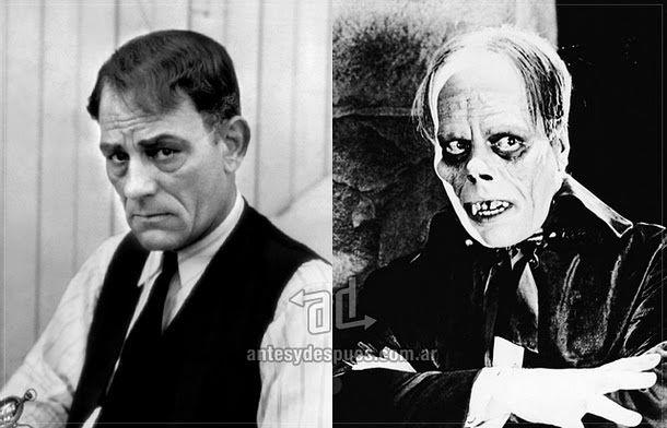 Lon Chaney como Erik, el fantasma de la opera.  The phantom of the opera (1925).