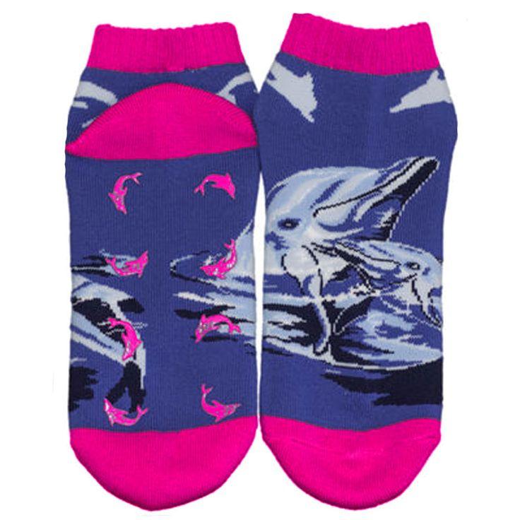 Absolute Socks - Dolphin Shorty Non Skid Socks, $9.99 (http://www.absolutesocks.com/ladies-fashion/ladies-slipper-socks/dolphin-shorty-non-skid-socks/)