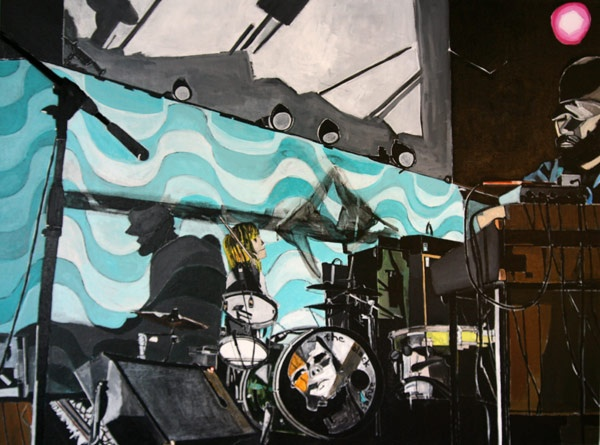 Black Angels at Old Rock House  Painting by Dana Smith  http://danarichardsmith.com/