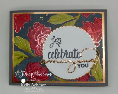 I have a BRAND NEW TECHNIQUE to share with you!!! I'm calling is STAMPIN' BLEND RESIST! You're going to love it! Click on the photo to see a video tutorial for 5 cards using the Springtime Foils Specialty Paper and all the fun ideas you can make! www.AStampAbove.com