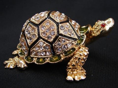 Feng Shui Bejewelry Turtle