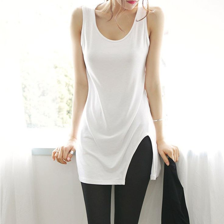 Summer Stylish Solid Long Tank Top