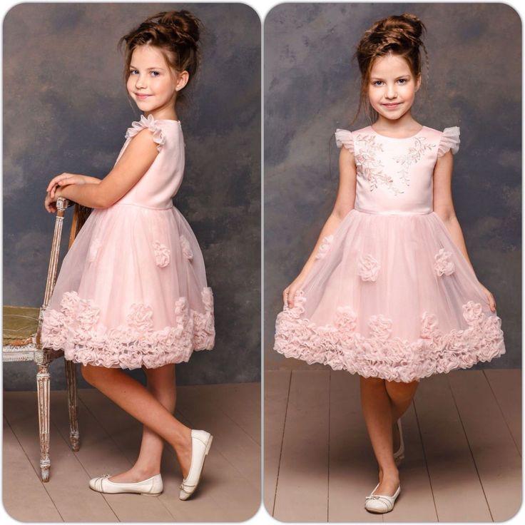 """Купить Шикарное платье для девочки """"Милашка"""" (101) - бледно-розовый, Новый Год"""