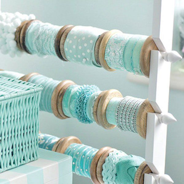 DIY distributeur de rubans / To tidy up your ribbons