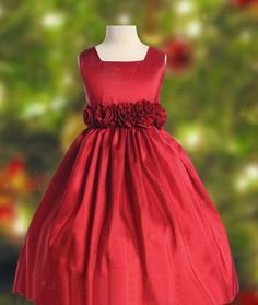 nordstrom vestido de fiesta para nina EN ROJO | :: Vestidos de fiesta bodas :: Vestidos Floristas :: satén rojo ...