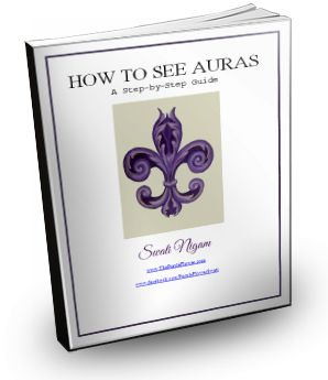 """My gift to you: eBook on """"How to See Auras"""". This is an eBook I wrote with very clear and simple step by step instructions on how to see auras.   You get this as FREE gift for signing up for my newsletter. My newsletter has inspirational thoughts, psychic development tips, angel readings, tips on making life easier with tools like EFT tapping, healing courses etc. If you are interested in these topics, you will love my newsletter. Click on the picture to sign up for my newsletter :-)."""