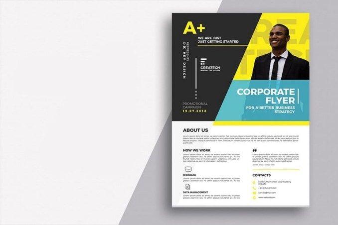 20 Business Flyer Templates Word Psd Design Shack Business Flyer Templates Flyer Design Templates Free Brochure Template
