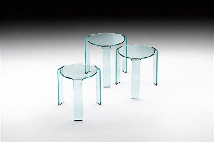 GlazenDesignTafel.nl | FIAM Design bijzettafel Omaggio Tris | by CRS FIAM | Italian Design | vidre glastoepassingen, Leiden | vidre.nl