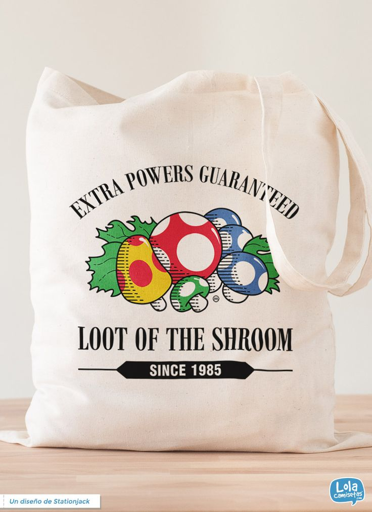 Loot of the Shroom tote bag   Design by Stationjack