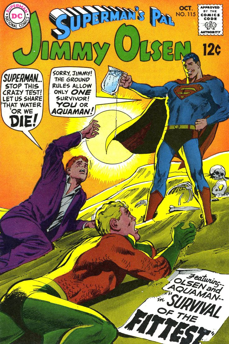 The sheer number of covers where Superman denies basic things to Jimmy Olsen (and whoever else is on the cover at the time) is staggering. There's a great one where Superman stops Jimmy from being...