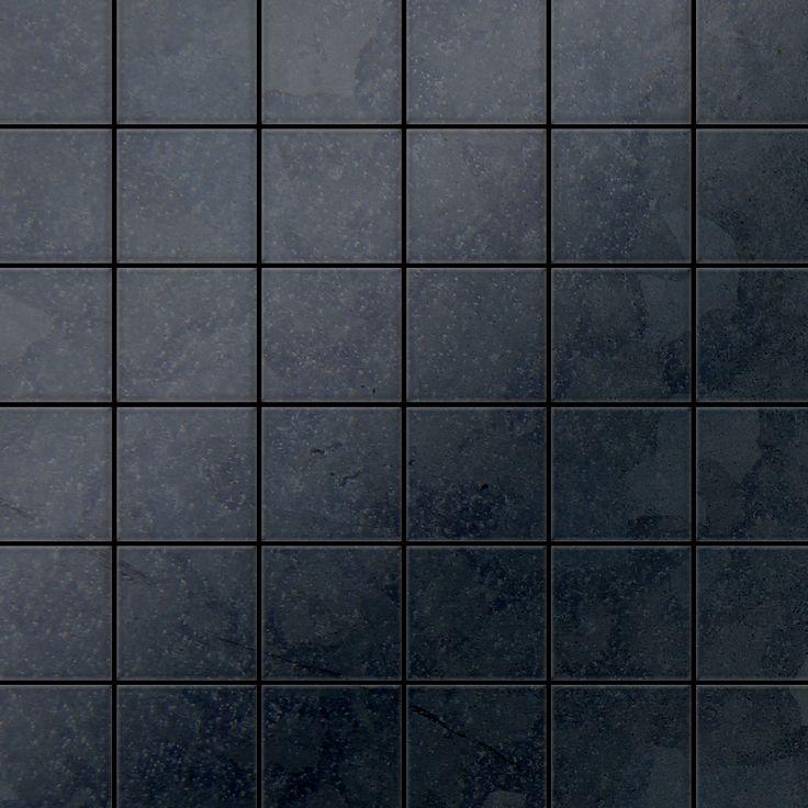 mosaque mtal massif carrelage acier brut lamin gris grosseur 16mm alloy cinquanta rs - Ceramic Carrelage