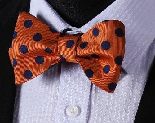 Orange Polka Bow Tie and Pocket Square - www.sophgent.com - 2