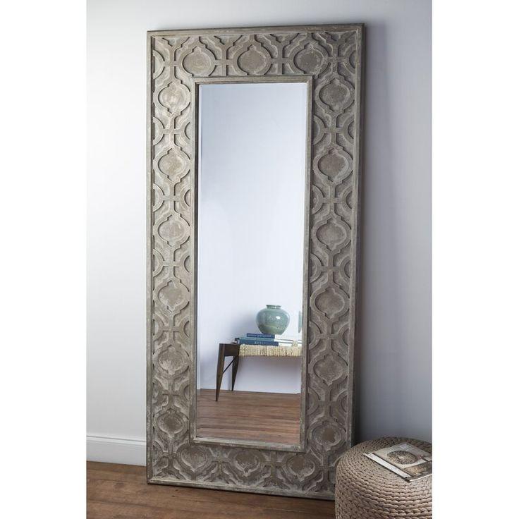 One Allium Way Alyce Weathered Pewter Accent Mirror In 2021 Mirror Wall Mirror Wall Decor Modern Mirror Wall