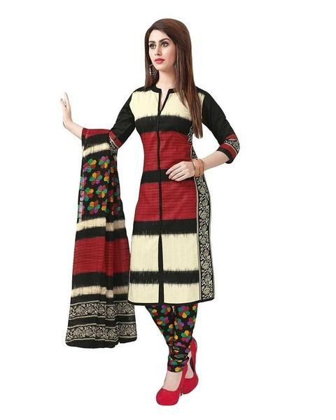LadyIndia.com # Salwar Suit Duptta Set, Cotton Unstitched Salwar Suit Dress Material Block Print Design Suit, Unstitched Suit, Salwar Suit Duptta Set, Dress Material, Anarkali Dress, Straight Suit, https://ladyindia.com/collections/ethnic-wear/products/cotton-unstitched-salwar-suit-dress-material