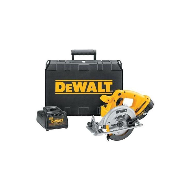 "Dewalt DC390K 6-1/2"" 18 Volt Cordless Circular Saw Kit with 3700 RPM and Carbid Power Tools Saws Circular Saws"