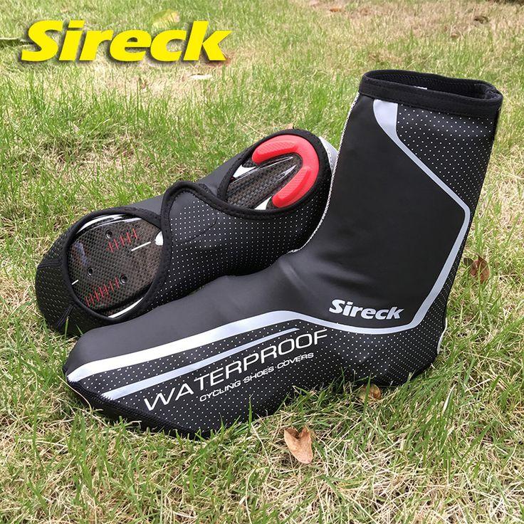 Sireck ciclo cubierta de la zapata caliente impermeable a prueba de viento de montaña cubierta de bicicleta de carretera mtb bicicleta zapato cubre chanclos caliente térmica