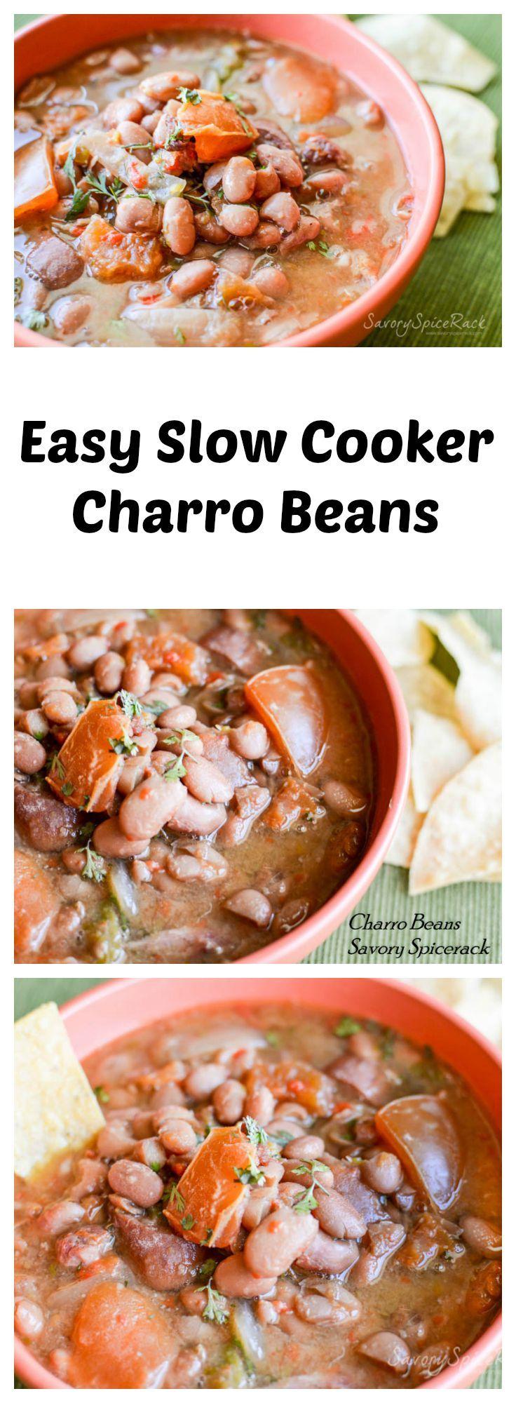 ... beans easy forward easy slow cooker charro beans easy slow cooker