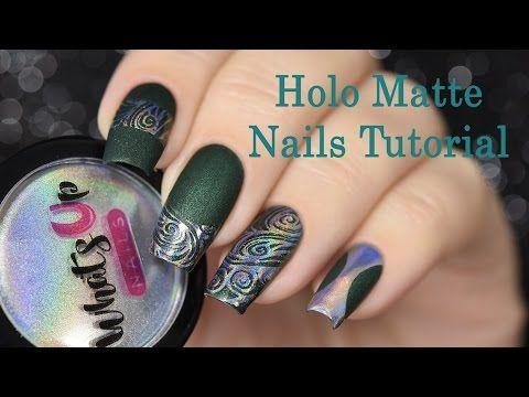 How to: Holo Matte Nails!  Tutorial / Как сделать матово-голографические ногти - YouTube