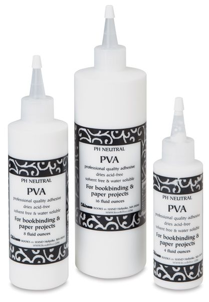 Polyvinyl Acetate (PVA) glue - Professional quality adhesive dries acid-free, solvent-free, and water-soluble. For bookbinding and all paper projects.