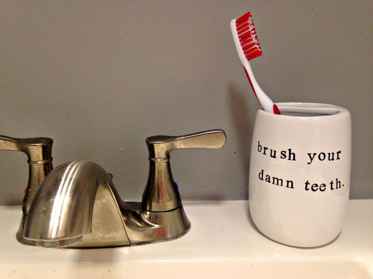 Brush Your Damn Teeth Ceramic Toothbrush Holder Products