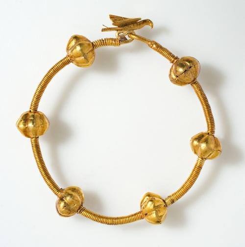 Gold bracelet-Treasure of Środa Śląska,Poland,ca. 12th century.