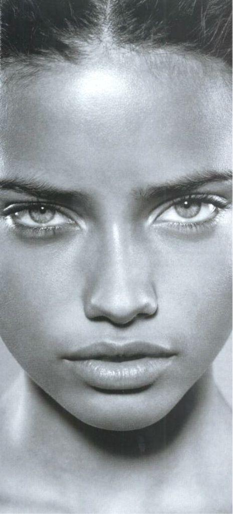 No makeup. Just a beautiful face.